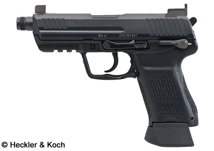 Mk24 Mod0, Combat Assault Pistol, canon fileté, organes de visée de nuit