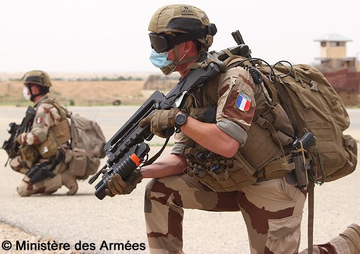 FAMAS/M203 ; Commandos-Parachutistes de l'Air, Abéché ; 2020