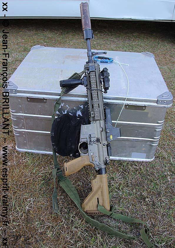 """HK-416 A5 équipé pour le tir d'appui """"air-sol"""""""