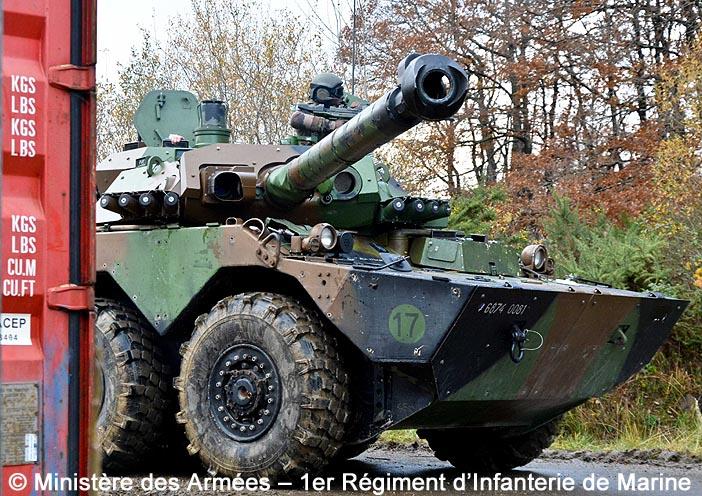 6874-0081 : AMX10 RCR, 1er Régiment d'Infanterie de Marine ; 2019