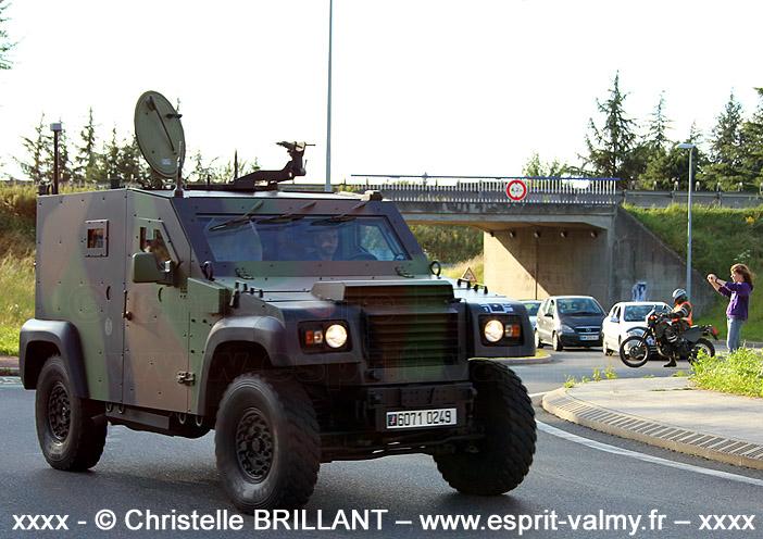 """6071-0249 : PVP Mk1, version """"Commandement"""", gréé """"Guerre Electronique"""", 1er Régiment d'Artillerie de Marine, Batterie de Renseignement de Brigade de la 1ère Brigade Mécanisée ; 2012"""