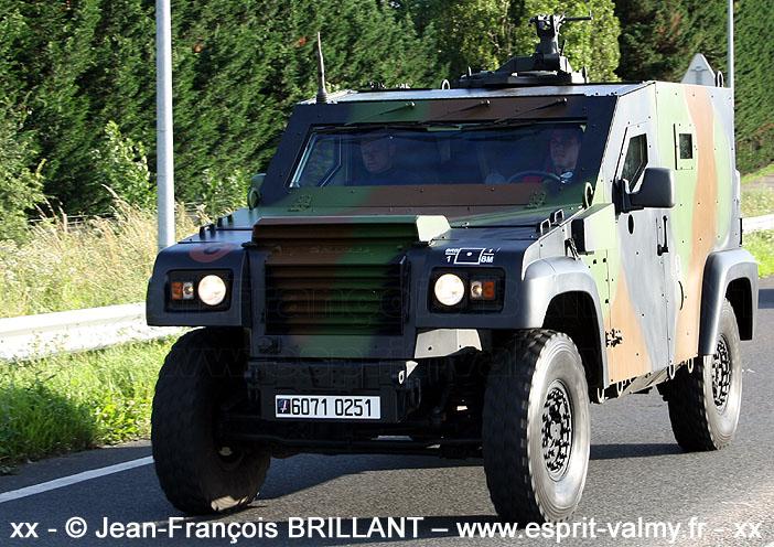 """6071-0251 : PVP Mk1, version """"Commandement"""", 1er Régiment d'Artillerie de Marine, Batterie de Renseignement de Brigade de la 1ère Brigade Mécanisée ; 2012"""