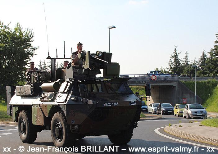 """6823-1485 : VAB """"Ultima"""", 3e Régiment d'Infanterie de Marine ; 14 juillet 2013"""