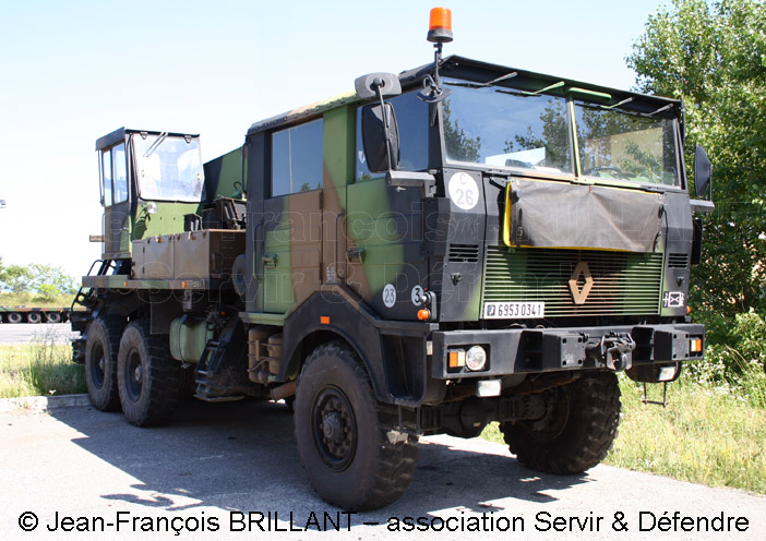 6953-0341 : Renault TRM 10.000 CLD (Camion Lourd de Dépannage), 7e Régiment du Matériel ; 2008