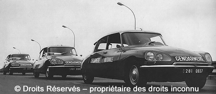 Citroën ID 21, 281-0937, 281-0938 et 281-0939, Gendarmerie ; 1968