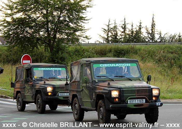 """6911-1169 : Peugeot P4, 121e Régiment du Train, Groupement de Circulation Routière """"14 juillet"""" ; 2012"""