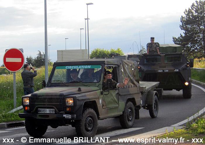 """6851-1099 : Peugeot P4, Etat-Major de la 1ère Brigade Logistique, Groupement de Circulation Routière """"14 juillet"""" ; 2012"""