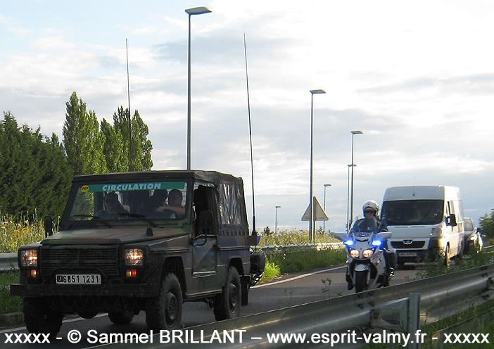 """6851-1231 : Peugeot P4, Groupement de Circulation Routière """"14 juillet"""", 121e Régiment du Train ; 2012"""