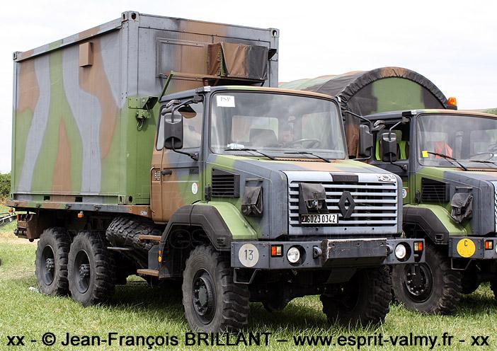 """GBC180, cabine tôlée """"type 1.2"""", ATM15, 6023-0342 ; 1er 2e Régiment de Chasseurs"""
