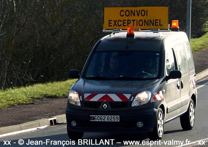 """6062-0259 : Renault Kangoo 1.5dCi, """"Convex"""", 516e Régiment du Train ; 2007"""
