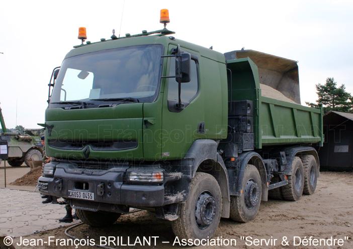 6053-0455 : Renault Kerax 420.32 dCi 8x4, benne de 10 m3, 5e Régiment du Génie ; 2006