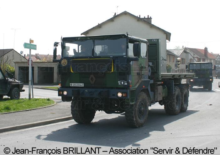 6953-0443 : Renault TRM 10.000 APD (A Plateau Déposable), 8e Régiment d'Artillerie ; 2008