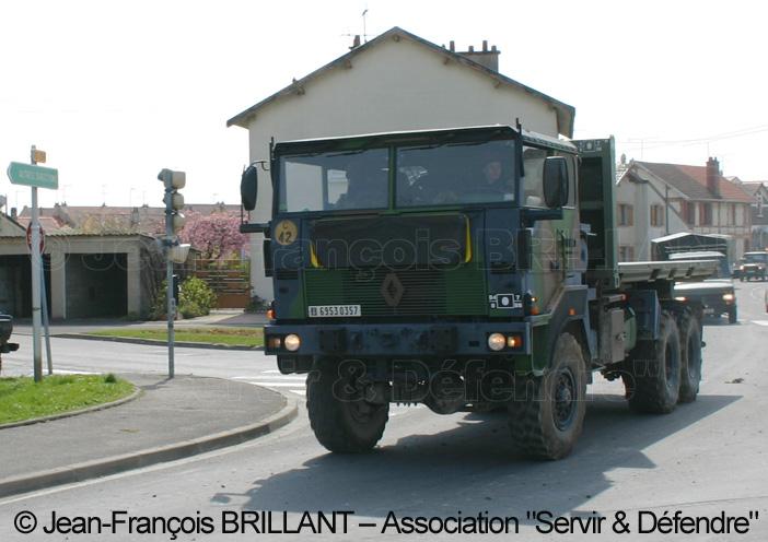 6953-0357 : Renault TRM 10.000 APD (A Plateau Déposable), 8e Régiment d'Artillerie ; 2008