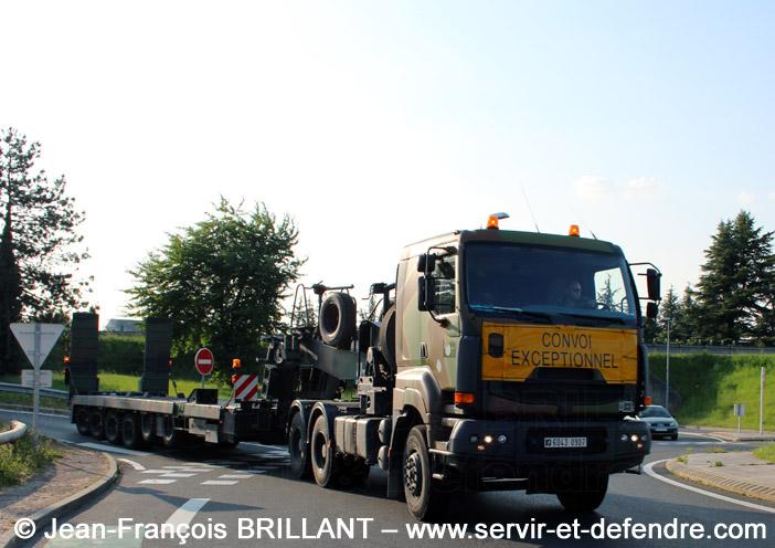 Sisu E-Tech 480, Tracteur de Remorque Porte-Char de 50 tonnes, 6043-0907, 516e Régiment du Train ; 2013