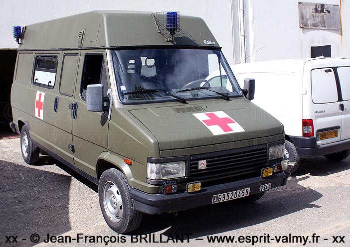 Citroën C25 1.800D, 4x4, ambulance médicalisée, 6952-0459 ; 5e Régiment du Génie