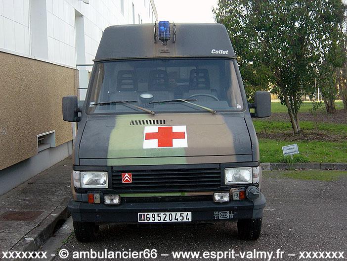 Citroën C25 1.800D, 4x4, ambulance médicalisée, 6952-0454 ; 31e Régiment du Génie