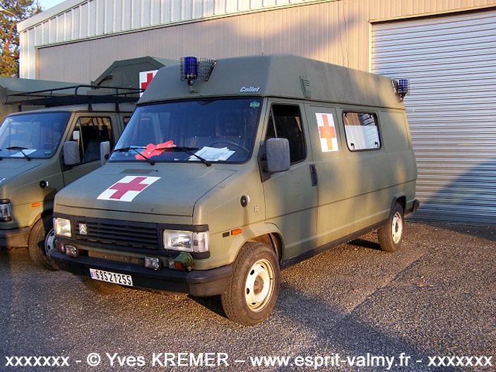 Citroën C25 1.800D, 4x4, ambulance médicalisée, 6952-1255 ; 1er Régiment d'Hélicoptères de Combat