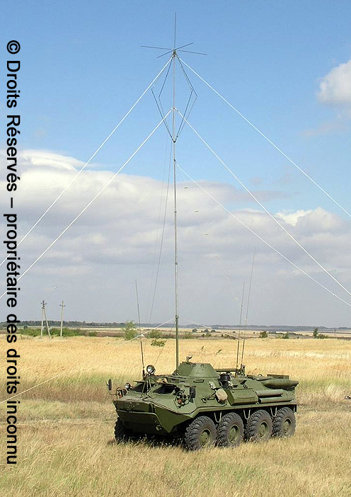 КШМ Р-145 БМ1 (KShM R145 BM1), mât d'antenne déployé