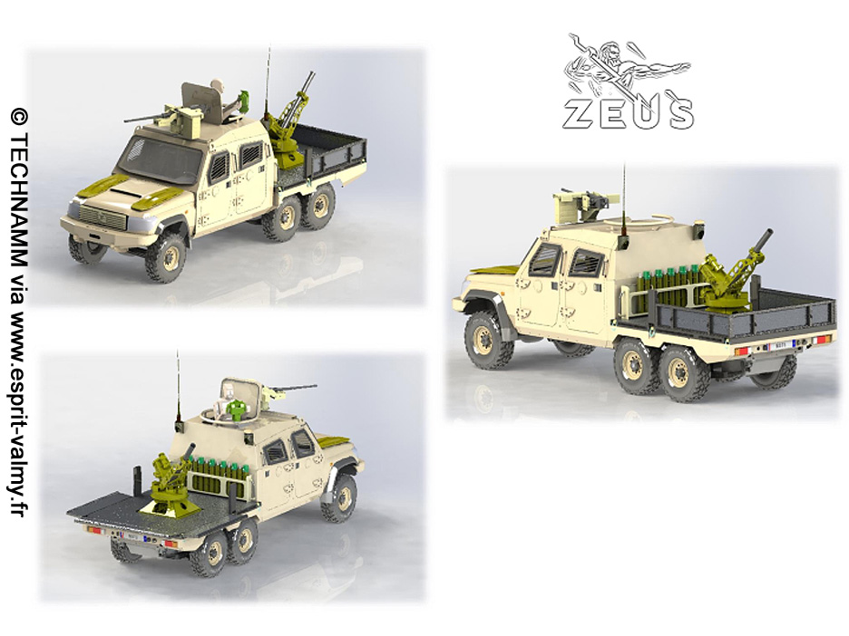 """Technamm/Thales South Africa Masstech T6 """"Zeus"""" : mortier de 81mm"""