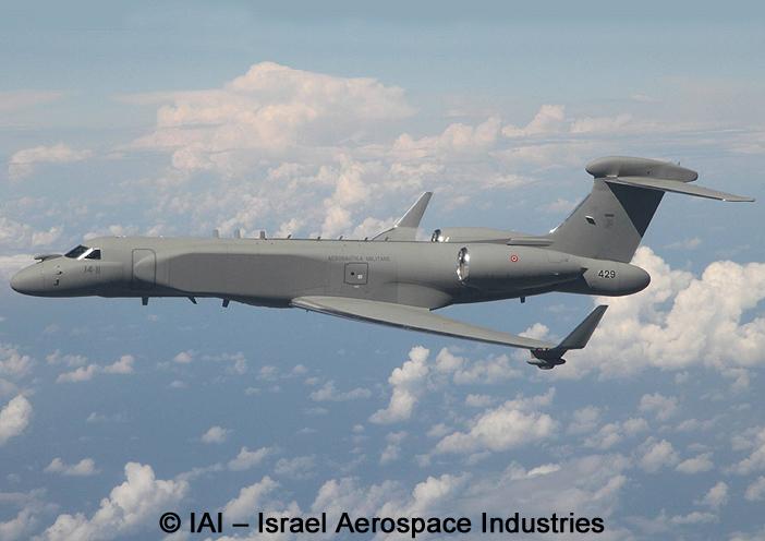 MARS : Multi-Mission Airborne Reconnaissance & Surveillance System ; Gulfstream G-550 CAEW de l'Aeronautica Militare Italiana