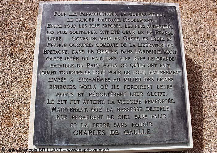 71 - Sennecey le Grand ; le Mémorial SAS