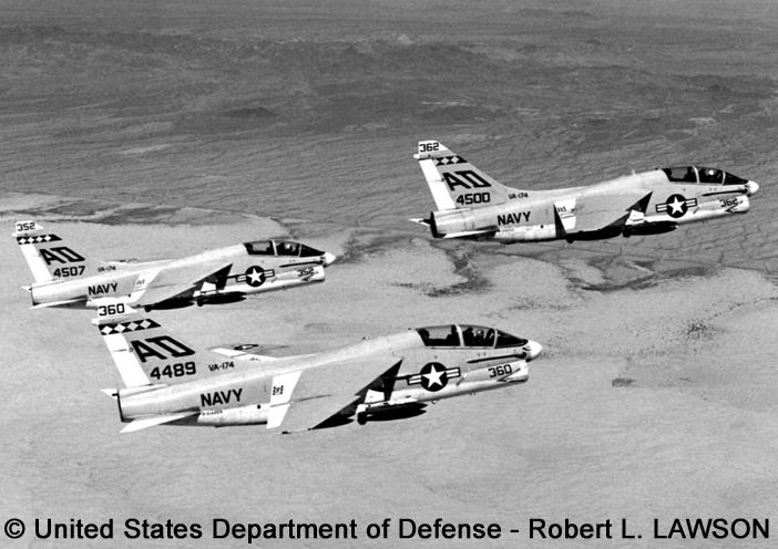 "Trainer, standard aircraft, modified mission : TA-7C ""Corsair 2"""
