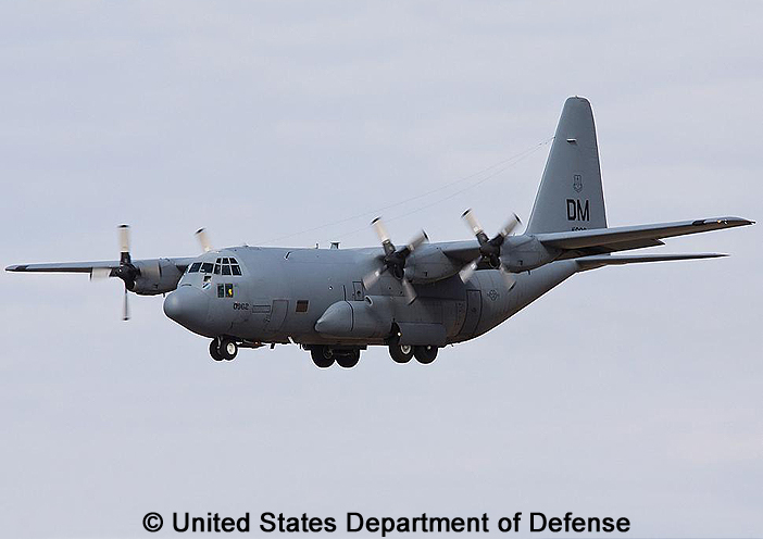 """Trainer, standard aircraft, modified mission : TC-130H """"Hercules"""""""