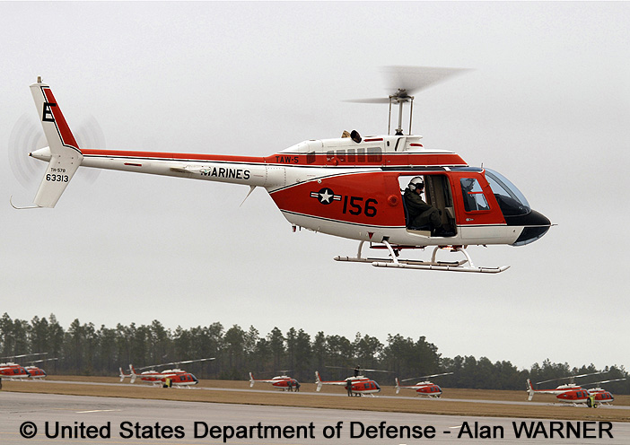 "Trainer, non standard aircraft, basic mission : TH-57B ""Sea Ranger"