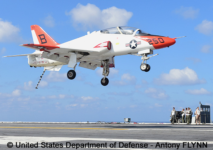 "Trainer, standard aircraft, basic mission : T-45C ""Goshawk"""