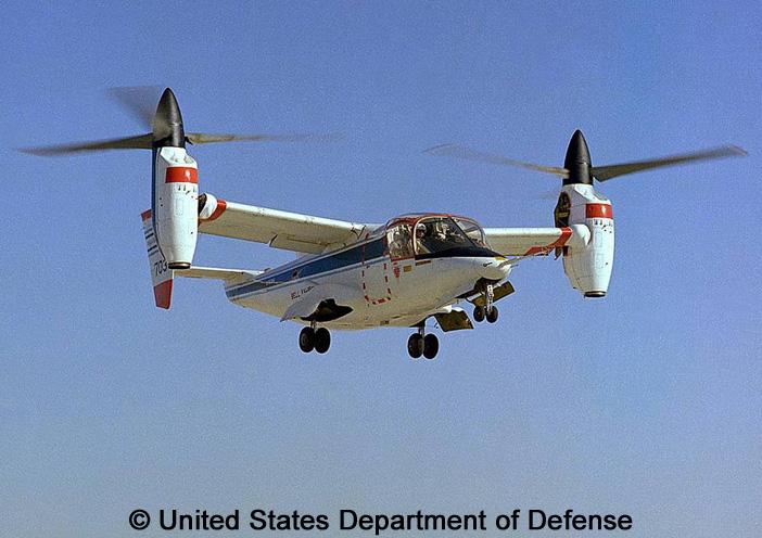 "eXperimental, non standard aircraft, basic mission : XV-15 ""Tilt Rotor"""