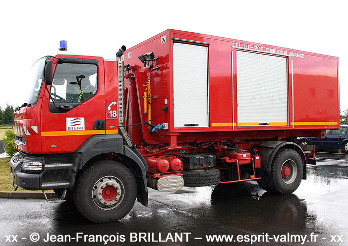 VPCE Renault Kerax, 3866 SX 18 ; SDIS18, Bourges-Danjons