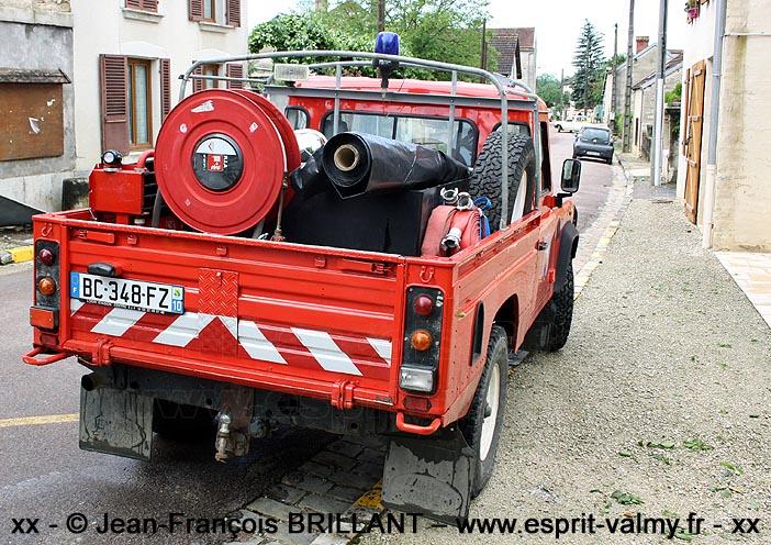 Defender 110 Td5, Véhicule de Première Intervention Hors Route, BC-348-FZ ; CPI Cunfin (10)