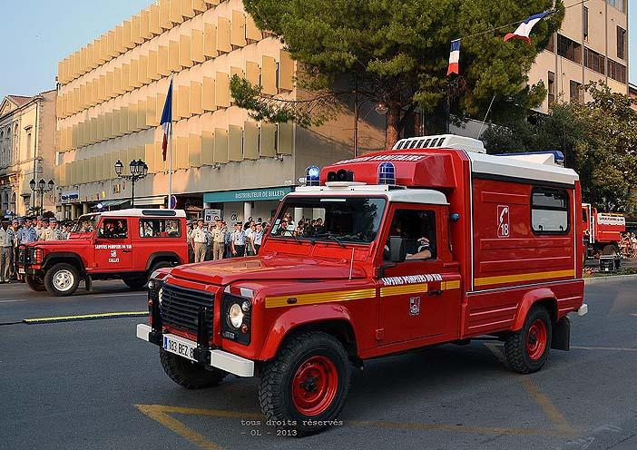 Defender 130 Td5, VSAV HR, 183 BZ 83 ; SDIS 83