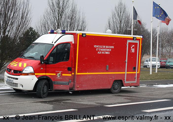 VSAV sur Renault Master dCi120, SDIS67 ; 2010