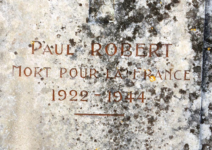 Paul ROBERT, 1922 - 1944, Mort pour la France
